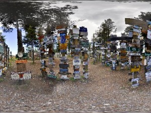 Sign post forest, Yukon (VR360)