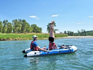 Rafting on Calgary's Bow River