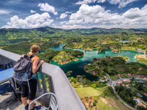 Standing on Top of a Meteorite: Guatape, Colombia